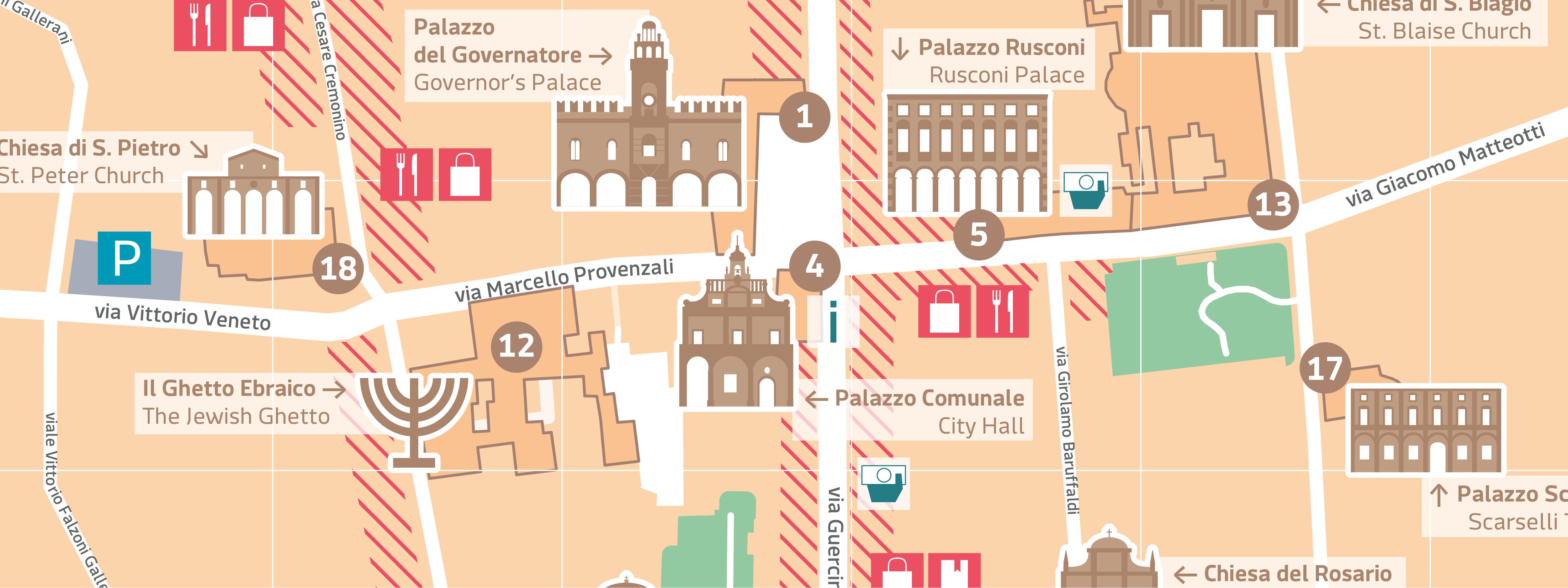 mappa Cento