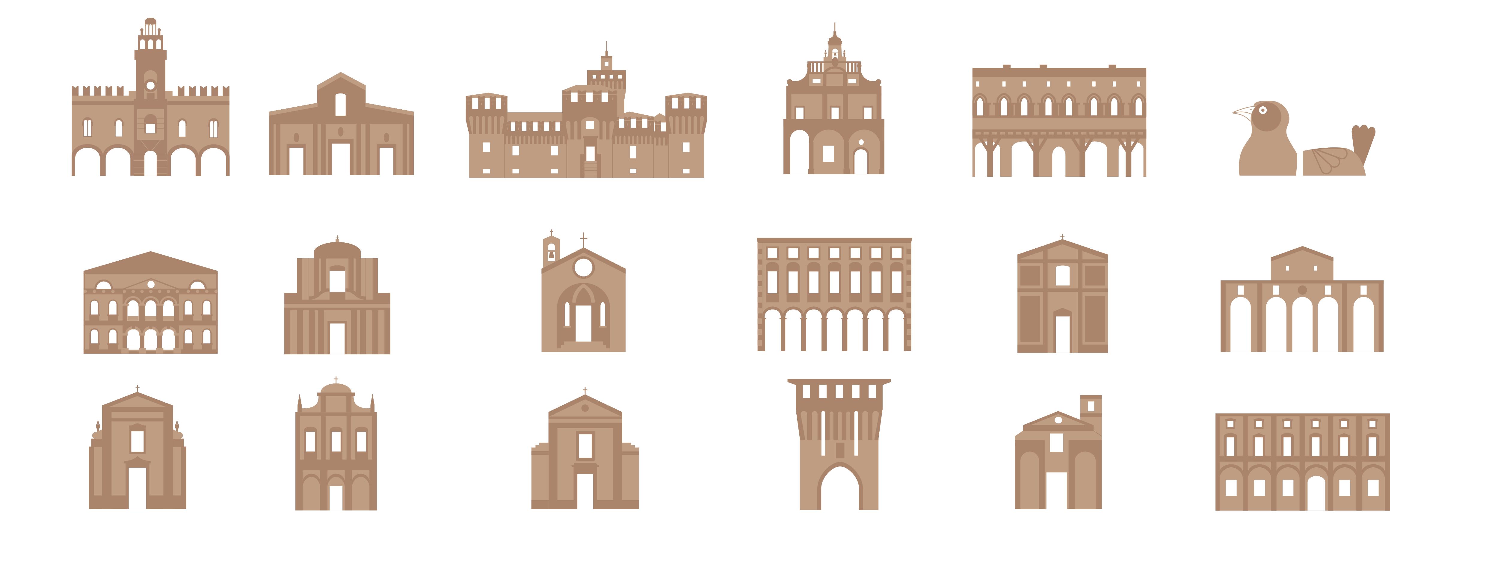 illustrazioni edifici Cento
